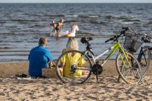 Pere jalgratastega Peipsi järve kaldal