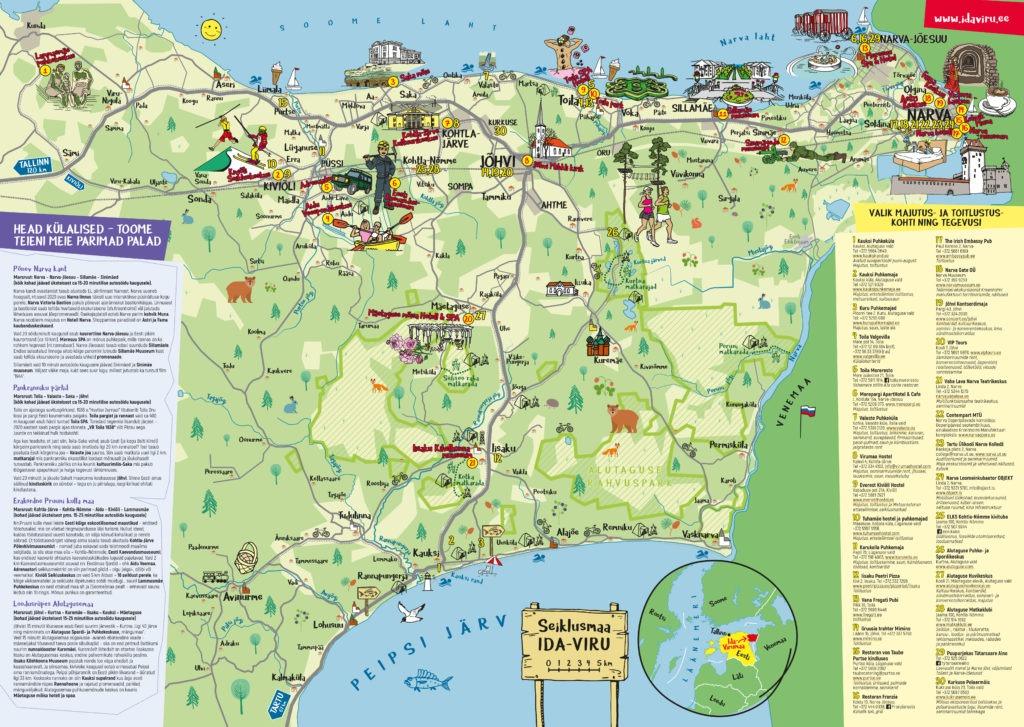 Ida-Virumaa seiklusmaa kaart 2021